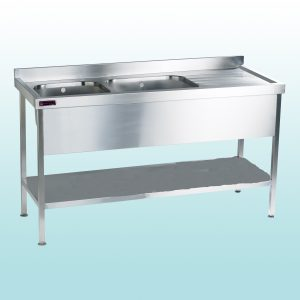 Double Bowl Sink Single Drainer