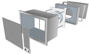 Kitchen ventilation supply air unit